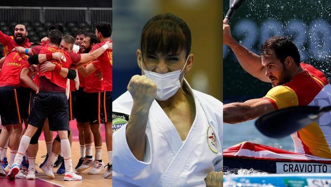 Sandra Sánchez, Saúl Craviotto y el balonmano, entre las grandes opciones de medalla este jueves.