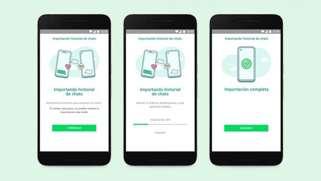 La función permitirá traspasar chats de WhatsApp de Android a iOS, y viceversa.