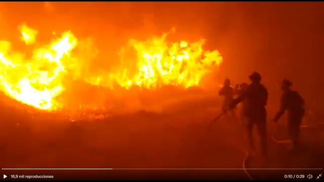 Incendio de Navalacruz desatado este sábado