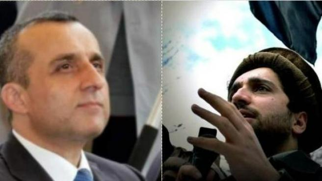 Amrullah Saleh, a la izquierda, y Ahmad Massoud, a la derecha.