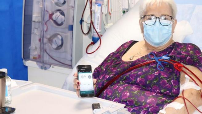 El páncreas artificial funciona con una aplicación móvil.