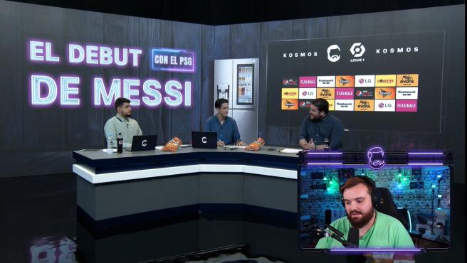 Ibai emite en directo el debut de Messi.