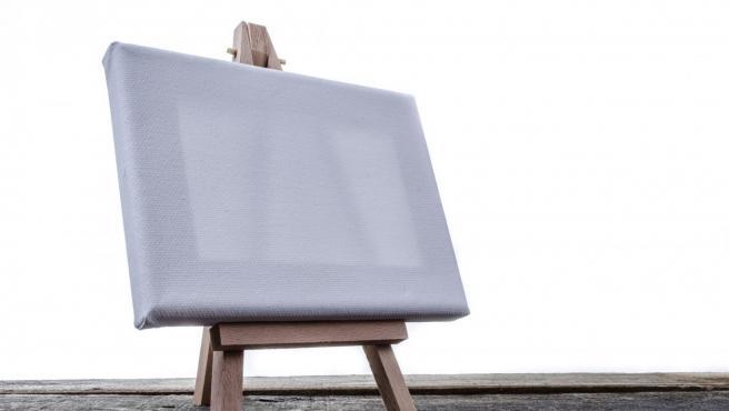 Imagen de archivo de un lienzo en blanco.