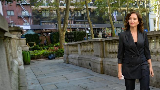 Isabel Díaz Ayuso en Nueva York.