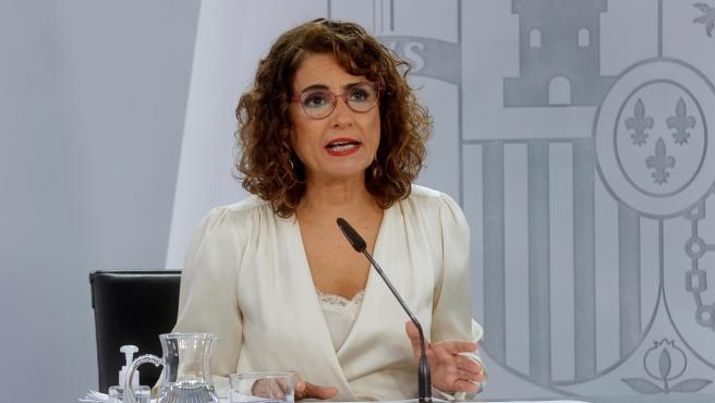 La ministra de Hacienda, María Jesús Montero, este jueves.