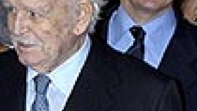 Rainiero de Mónaco y su hijo Alberto