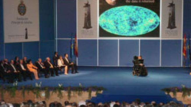 Hawking, en la inauguración de los Premios Príncipe de Asturias