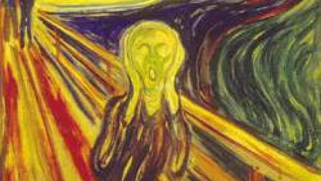 'El Grito' representa la angustia existencial del ser humano.