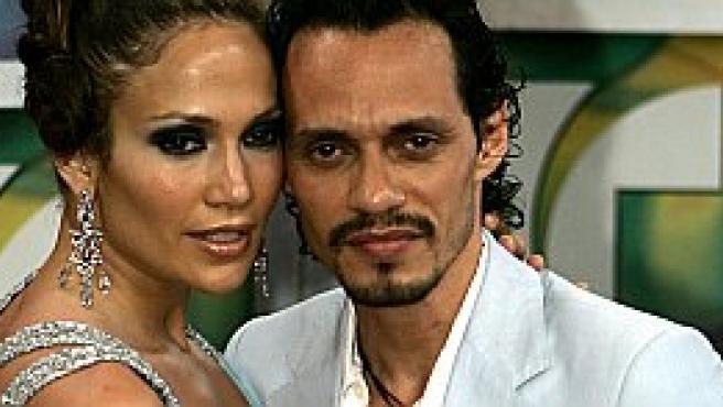 Jennifer López y Marc Anthony en la gala (Reuters)