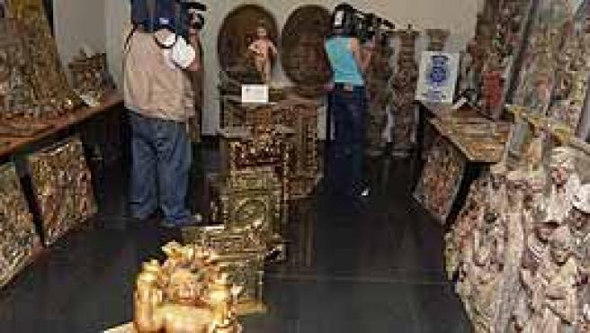 Algunas de las obras de arte que habían sido robadas.
