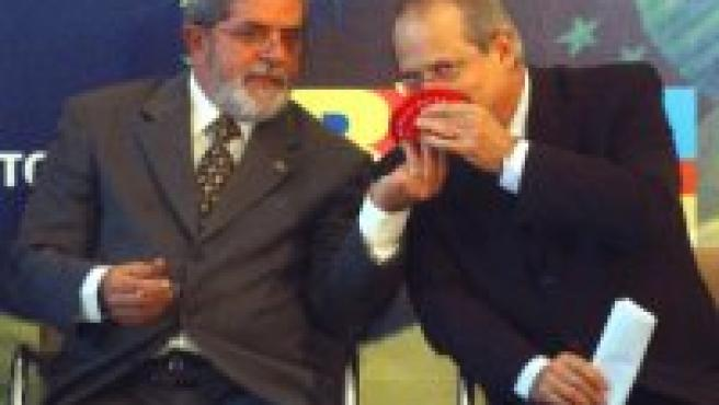 Lula y Dirceu, en el Palacio de Planalto. (Foto: Efe)