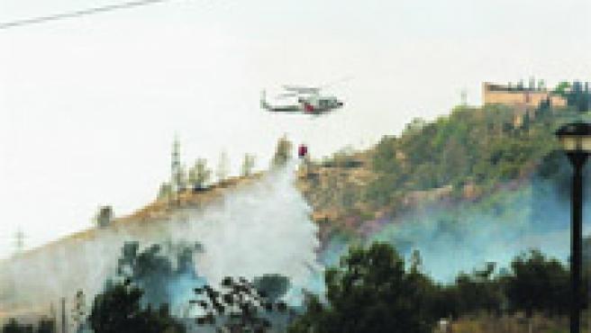 El fuego arrasó más de 40 hectáreas de matorral, pinar y pasto.