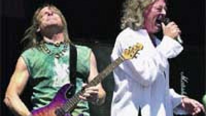 El guitarrista Steve Morse y el cantante Ian Gillan, en un concierto ofrecido a principios de mes en Canadá.
