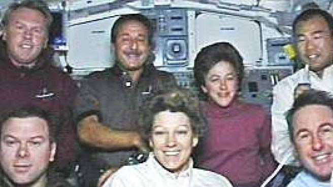 La tripulación del 'Discovery' antes del regreso a la Tierra (NASA)