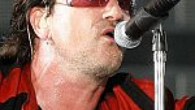 Bono durante el concierto en Barcelona (Reuters)