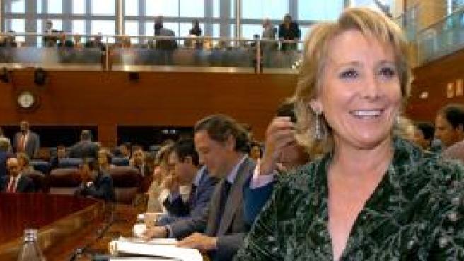 La presidenta de la Comunidad de Madrid, Esperanza Aguirre. (EFE)