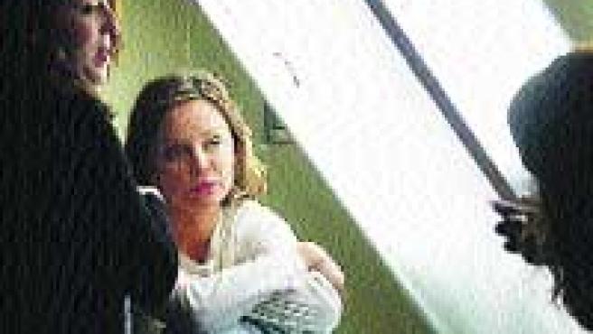 Calista Flockhart durant el rodatge de 'Frágiles', el 2004 a Terrassa.