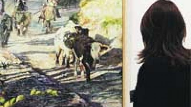 En los cuadros se pueden observar tradiciones taurinas.