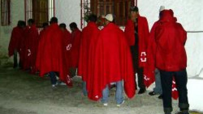 Grupo de inmigrantes detenido en las costas de Granada