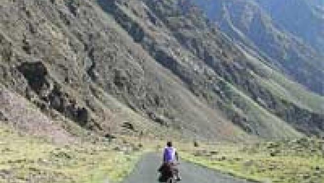 Fernando Romero, en las montañas de Pakistán.