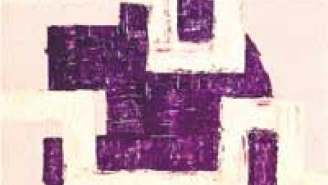 Guerrero es el título de este óleo sobre tabla que puede verse en la exposición de la sala Carlos Gil.