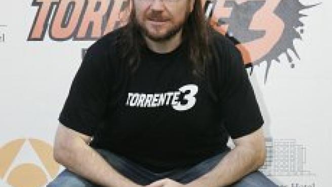 Santiago Segura, en la presentación de 'Torrente 3' (Jorge París).