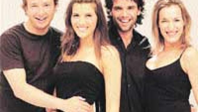 Los chicos de la obra, Coté Soler y Raúl Peña, han participado en series de la pequeña pantalla.