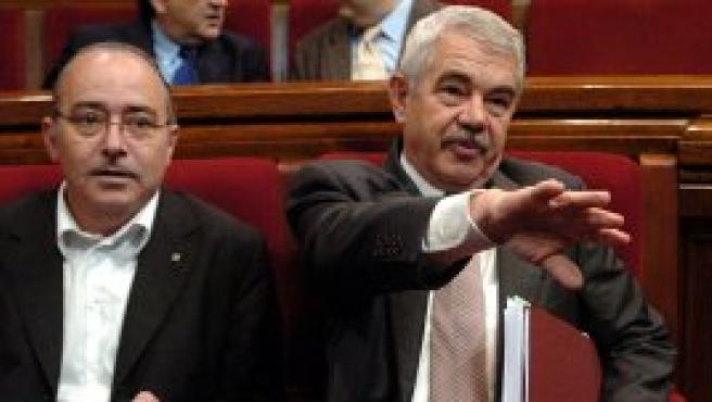 Maragall, durante el debate en el parlamento catalán (Efe).
