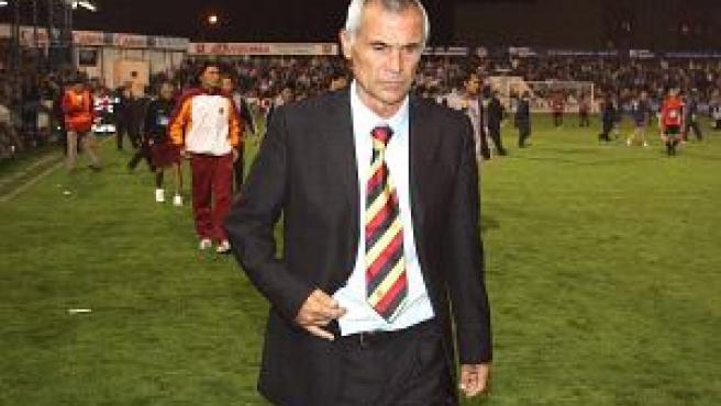 Héctor Cúper tras el partido contra Alcoyano. (EFE)