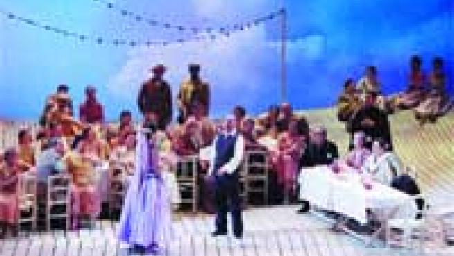 La zarzuela La Parranda recrea la vida de la huerta de Murcia a finales del xix.