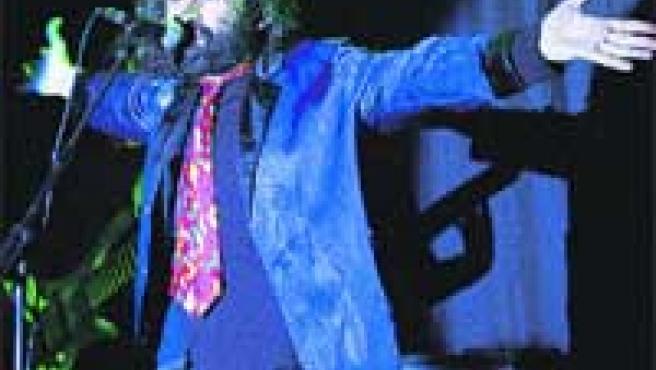 Daniel Higiénico en una de sus peculiares actuaciones.