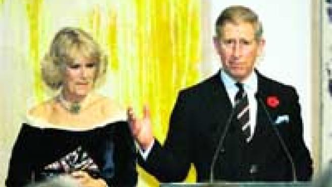 Camilla y el príncipe Carlos en una recepción en Nueva York.