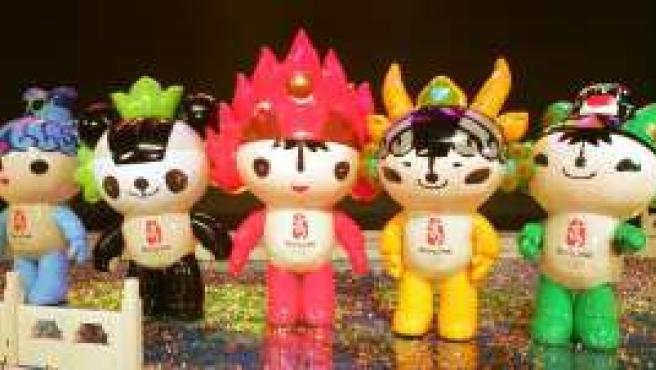 Las mascotas de Pekin 2008 (Reuters).