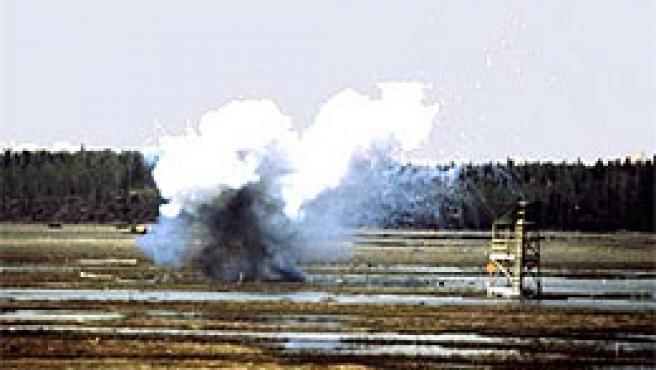Una explosión de fósforo blanco (imagen: globalsegurity.org).