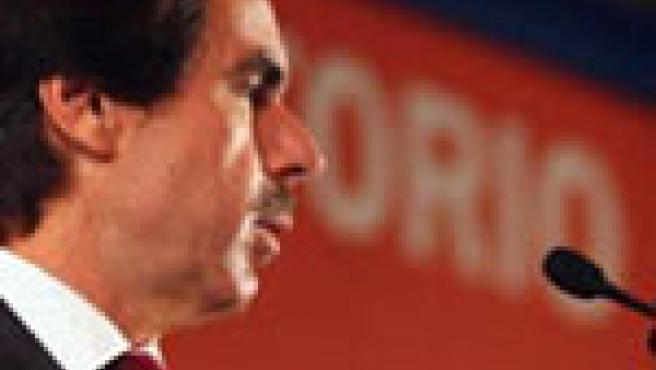 Aznar, durante su intervención en Washington