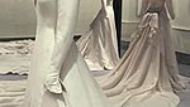 Vestido de novia de Letizia (Efe).