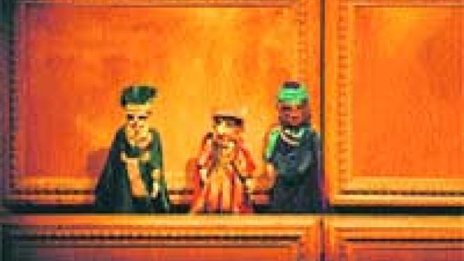 Los muñecos de los Reyes Magos están entre los personajes protagonistas de la representación.