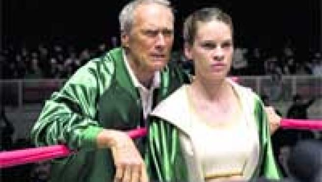 Clint Eastwood y Hillary Swank, protagonistas de la oscarizada Million Dollar Baby.