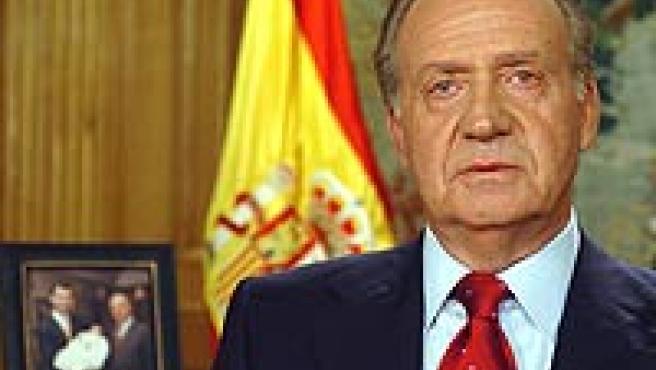 Don Juan Carlos durante su discurso navideño (FOTO: Casa Real).