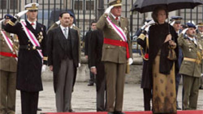 Los Reyes y el Príncipe de Asturias, en la Pascua Militar