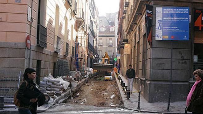 Obras en la calle Echegaray (Jorge París).