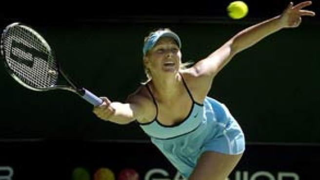 Sharapova, durante un partido (Foto: Reuters)
