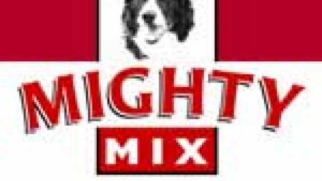 Logo de la compañía de comida para perros Mighty Mix