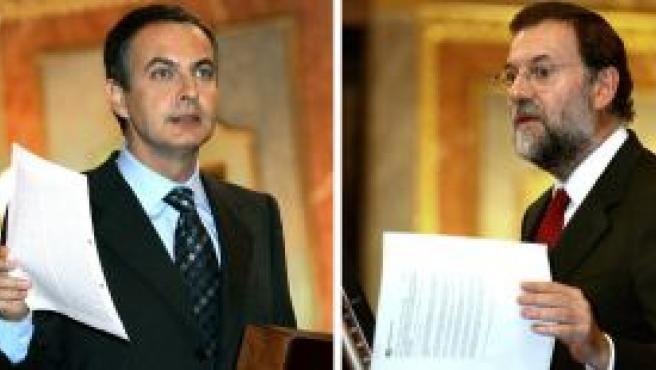 Zapatero y Rajoy en el Congreso de los Diputados