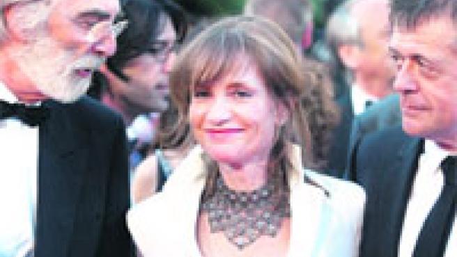 El director y la protagonista, en el Festival de Cannes.