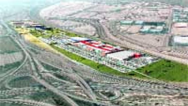 Los accesos a PlaZa Imperial, como se ve en la imagen virtual, se harán por la autovía de Madrid.
