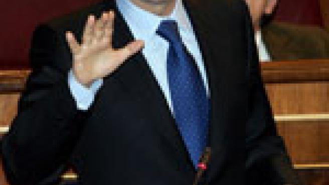 Zapatero en el Congreso de los Diputados. (Efe)