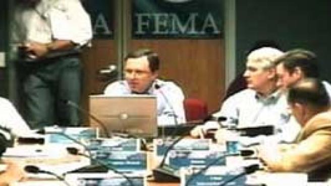 Imagen del video del aviso del Katrina (CNN)