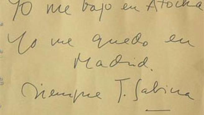 Uno de los mensajes que se dejaron en Atocha en los días posteriores al atentado. Éste, lo eligió uno de nuestros lectores, Ty, como fondo de escritorio.