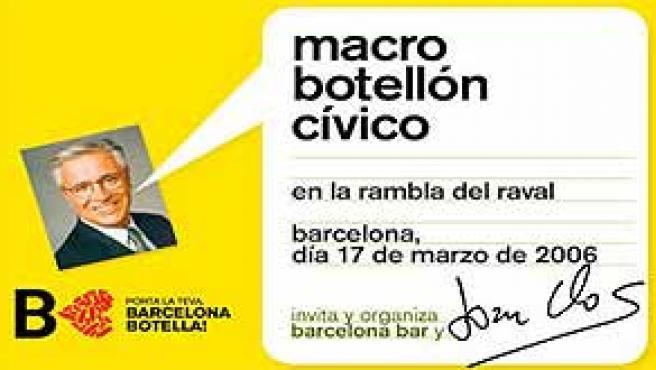 Joan Clos, utilizado en la campaña del macrobotellón barcelonés